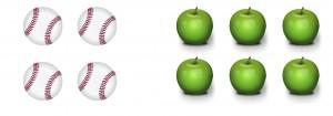 Balles et pommes